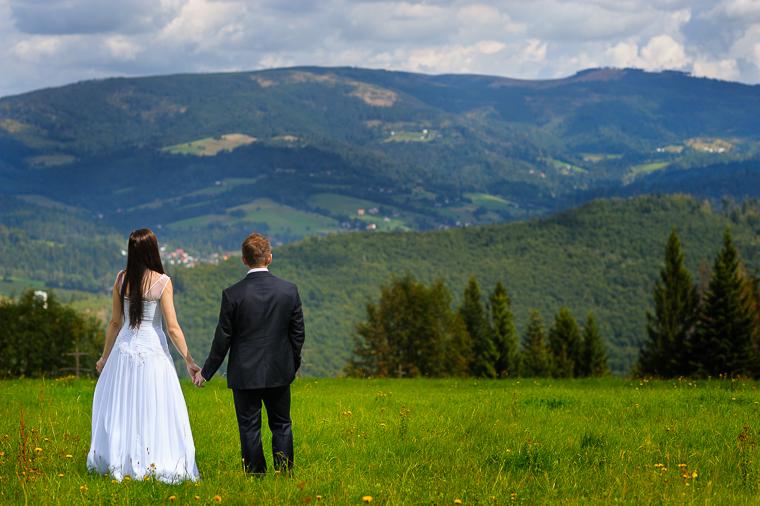 Fotografia ślubna - plener w górach