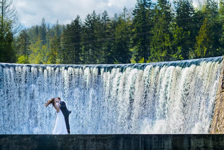 Fotografia ślubna - Wodospad