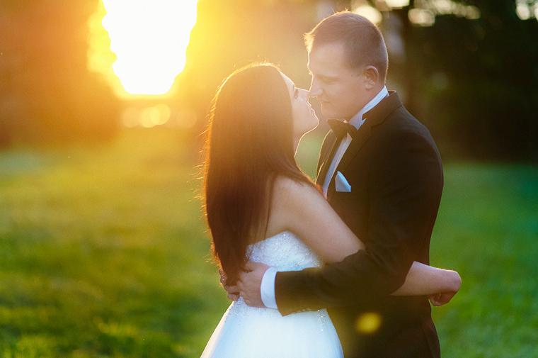 fotografia ślubna - słońce