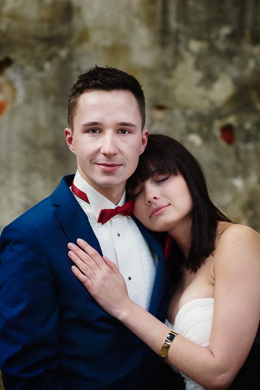 zdjęcia ślubne w ruinach