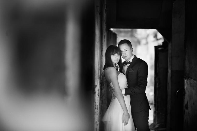 fotografia ślubna - czarno biała