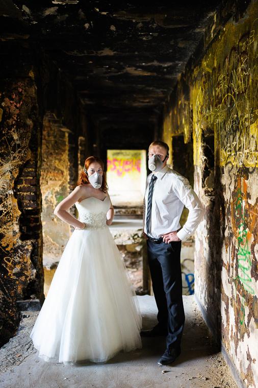 Plener ślubny - konwencja Horror